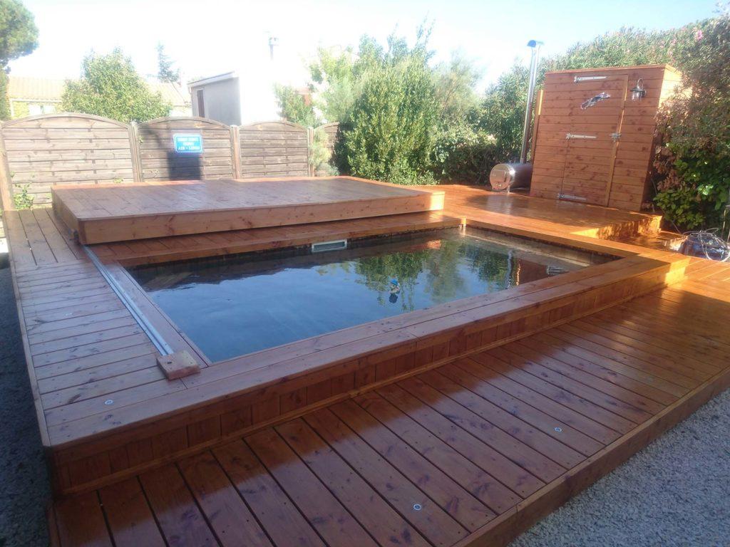 espace de vie piscine bois